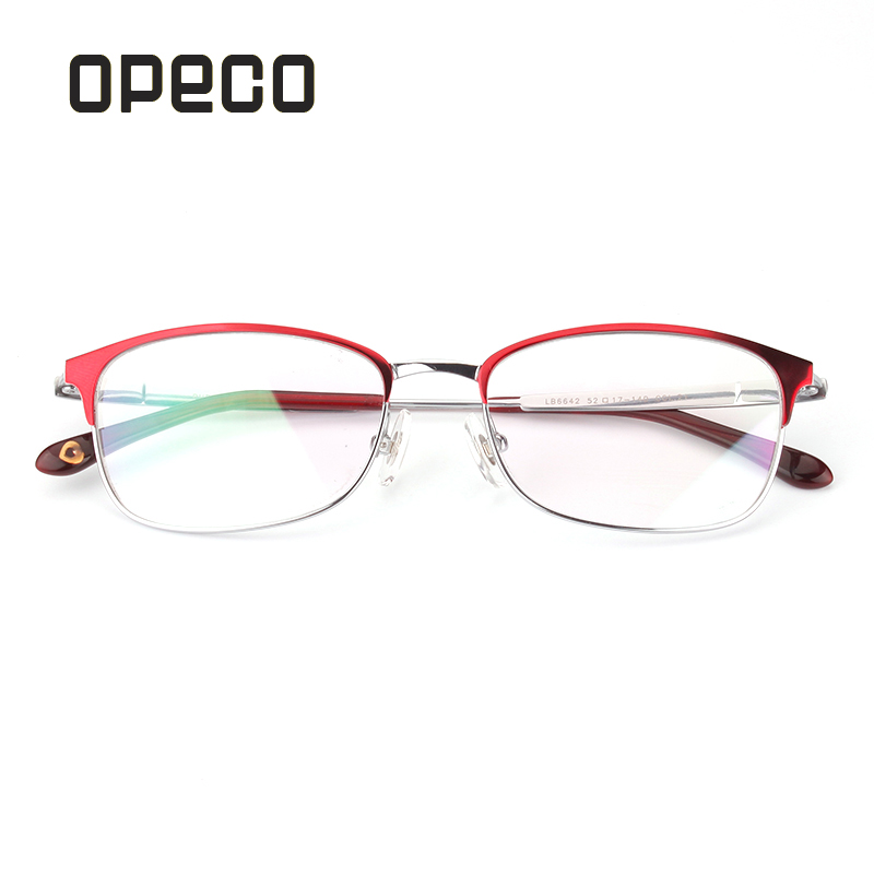Opeco pure titanium retro women's fashion eyeglasses including prescription lens eyewear frame RX recipe male  spectacles 6642