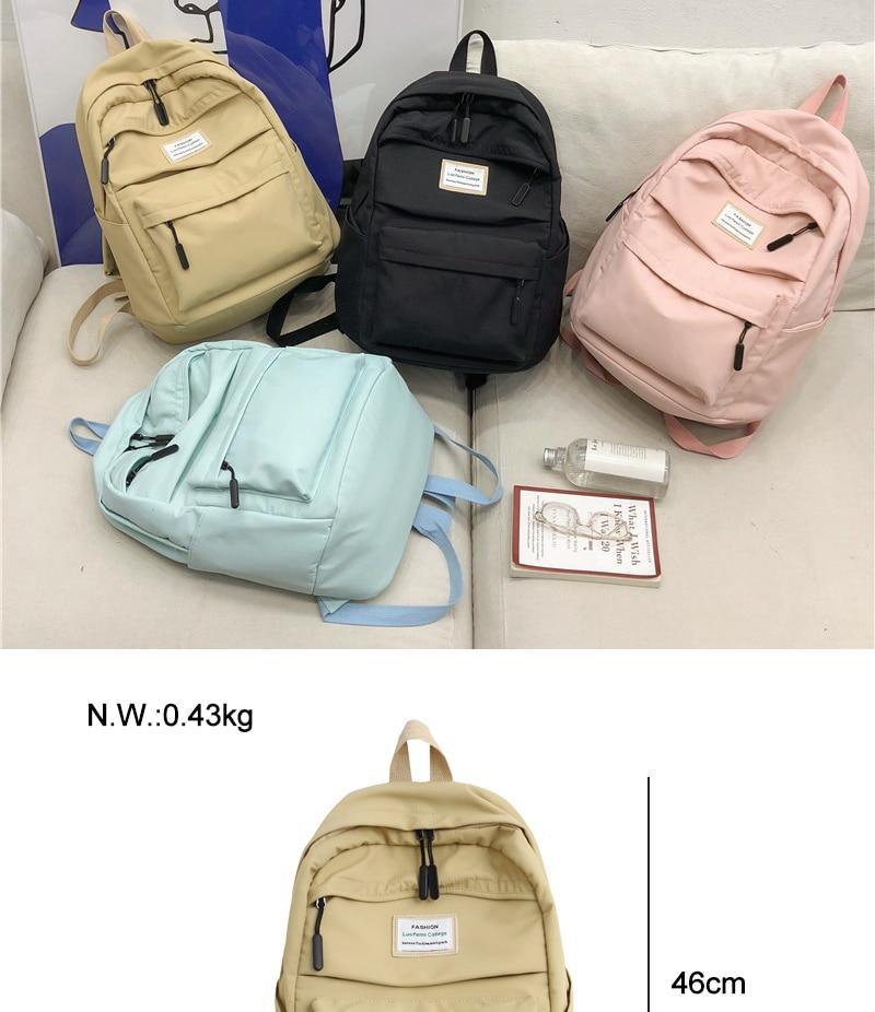 HTB1V.FJbyLrK1Rjy1zdq6ynnpXar DCIMOR Waterproof Nylon Women Backpack Female Large capacity high schoolbag Korean Vintage girl Shoulder Bags Travel Bag Mochila
