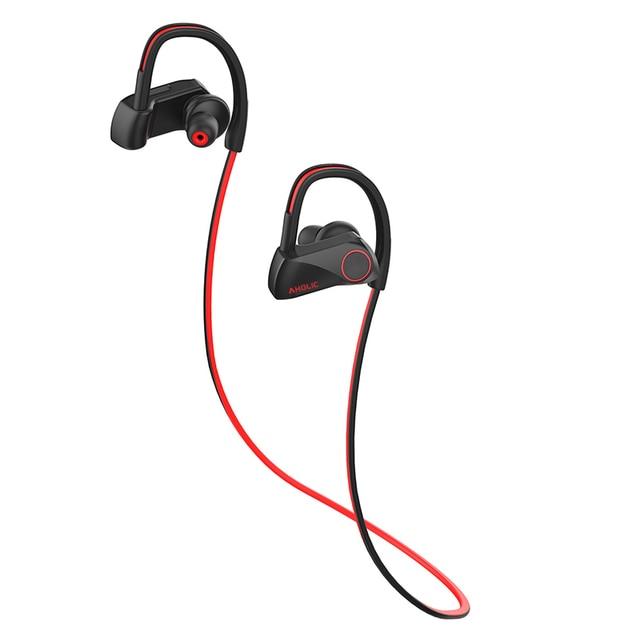 Headphone Mic Neckband Noise Canceling Stereo Headset Bluetooth Sports Earphone Headphones IPX7 Waterproof Wireless