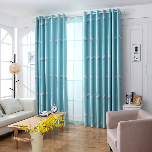 Dandelion Patterns Long Window Door Curtains Living Room BedroomFascinating Images Best Image House