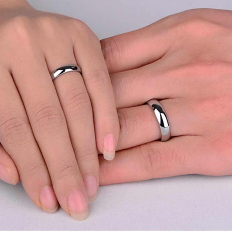 Elsemode 6mm aço inoxidável 316l brilhante polido anel de noivado de casamento anéis de banda rosa ouro aço preto multi cor