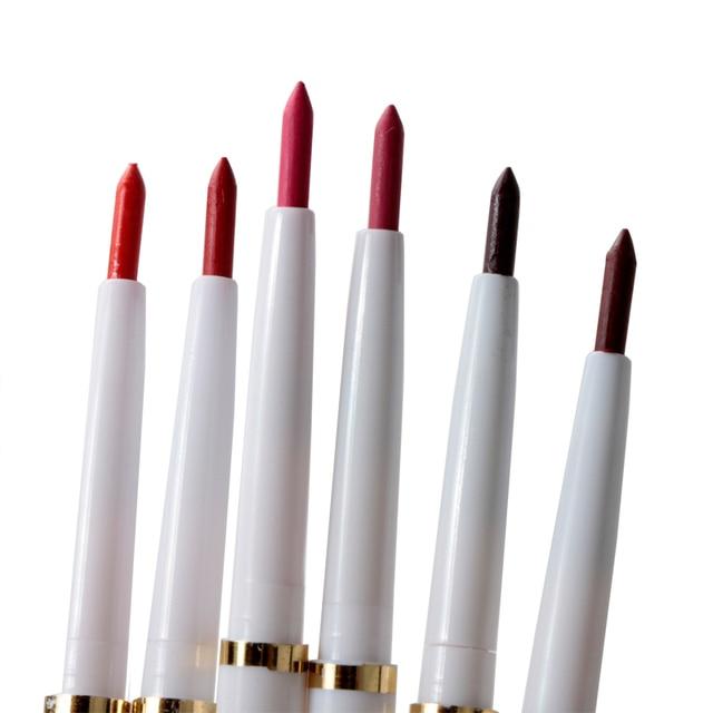 1 piezas Natural rotativa automática trazador de líneas del labio maquillaje de larga duración productos Sexy delineador dama impermeable belleza rojo lápiz de labio conjunto