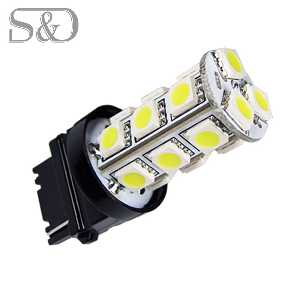 T25 3156 3056 White 18 SMD 5050 LED Bulb Lamp p27w led car bulbs Turn Signal External Lights Car Light Source parking d040 3156 12w 600lm osram 4 smd 7060 led white light car bulb dc 12v
