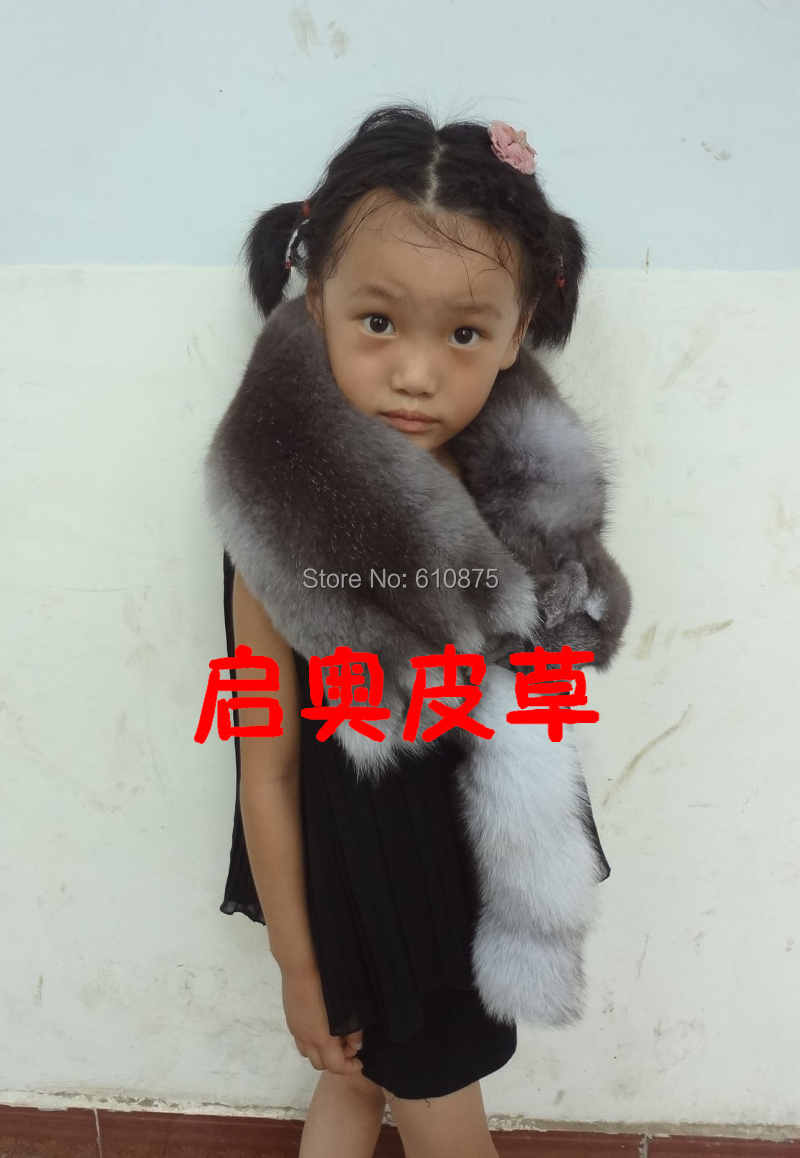 Children Autumn Winter Plus Size Fox Muffler Scarf Fur Scarf Child Thermal Fur Fox Fur Scarf Muffler Scarf Cape Winter zea rtm0911 1 children s panda style super soft autumn winter wear cap scarf set blue