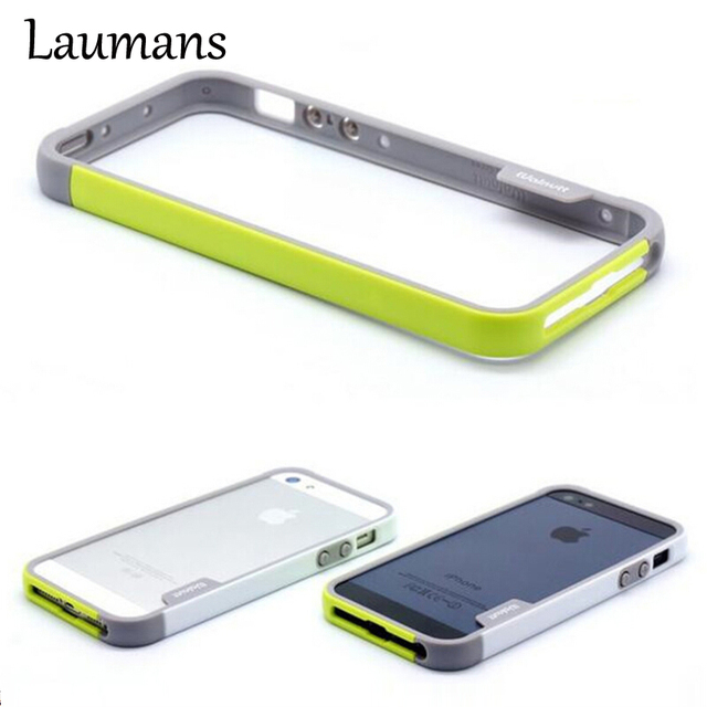 reputable site a88e2 47c95 US $3.59 |Laumans For apple iphone 5s multicolor bumper frame case cover  for iphone 5s soft tpu silicone 2 colors in one phone bumper case-in Phone  ...