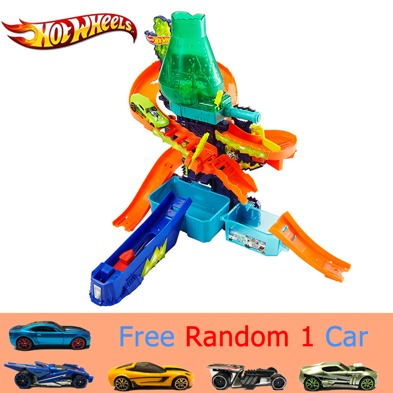 Hot Wheels Color Splash Science Lab Car Track Color Shifters with Different Color Sport Car Funny Children Toy Track CCP76 Gift hot wheels color shifters машинка 24 seven цвет болотный