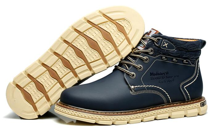 260079 MULINSEN new Fashion Genuine Leather Men Ankle Boots Warm Winter Snow Warm Men s Boot
