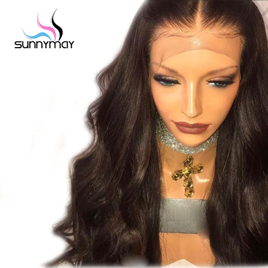Sunnymay Freeshipping Natural Hairline Virgin Brasilian Body Wave - Menneskehår (sort)