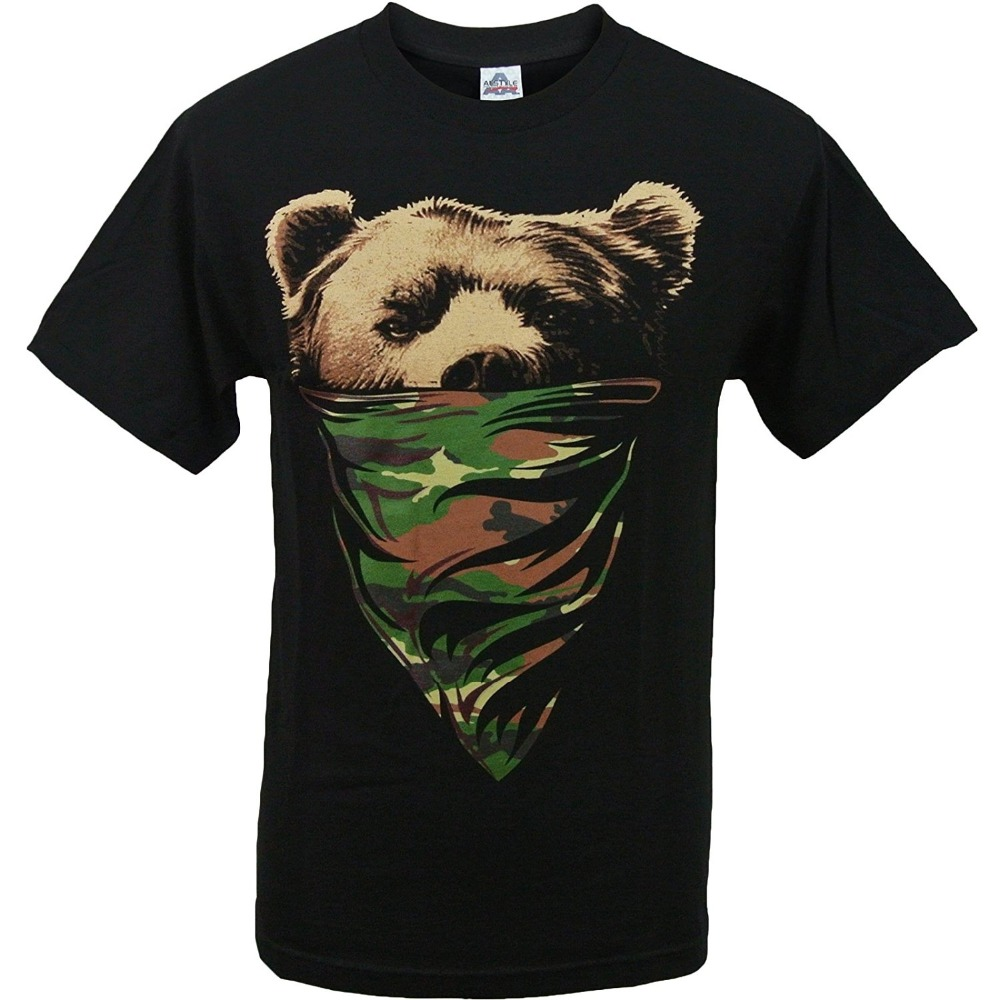 Custom Shirt Printing Mens Short Sleeve Mens Camouflage Bandana