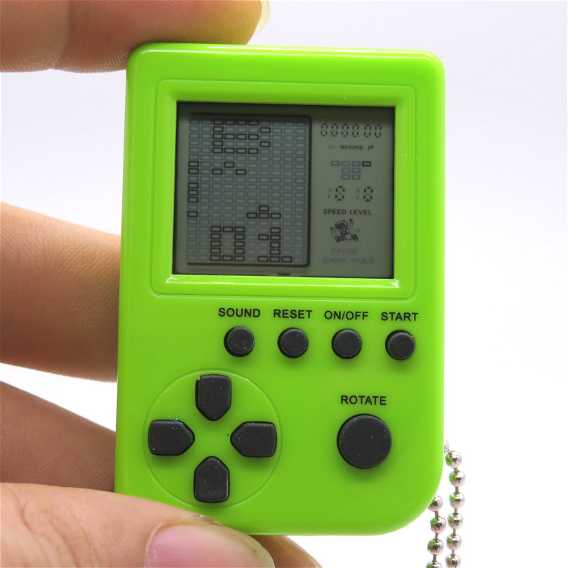New Mini Classic Tetris Game Toy Electronic Handheld Tetris Game Brick Machine Tamagochi Interactive Leisure Toys For Children