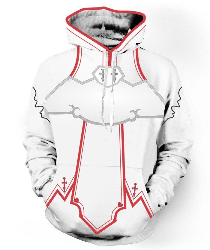 Game Anime sword god domain 3D Hoodies Men Women Casual Hoodie Boy Sweatshirt Pullover Personality hoodies