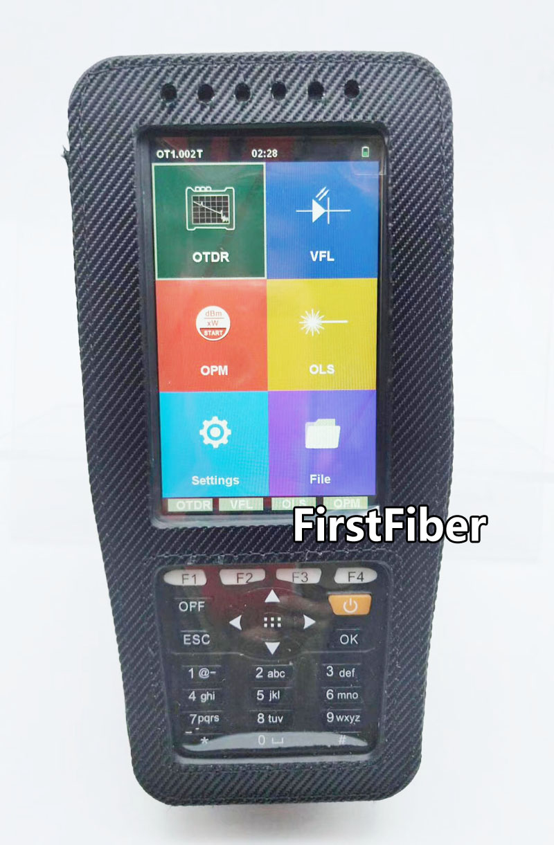 High Precision OTDR Tester Optical Time Domain Reflectometer 4 in 1 OPM OLS VFL Touch Screen 3m to 60km Range Optical Instrument
