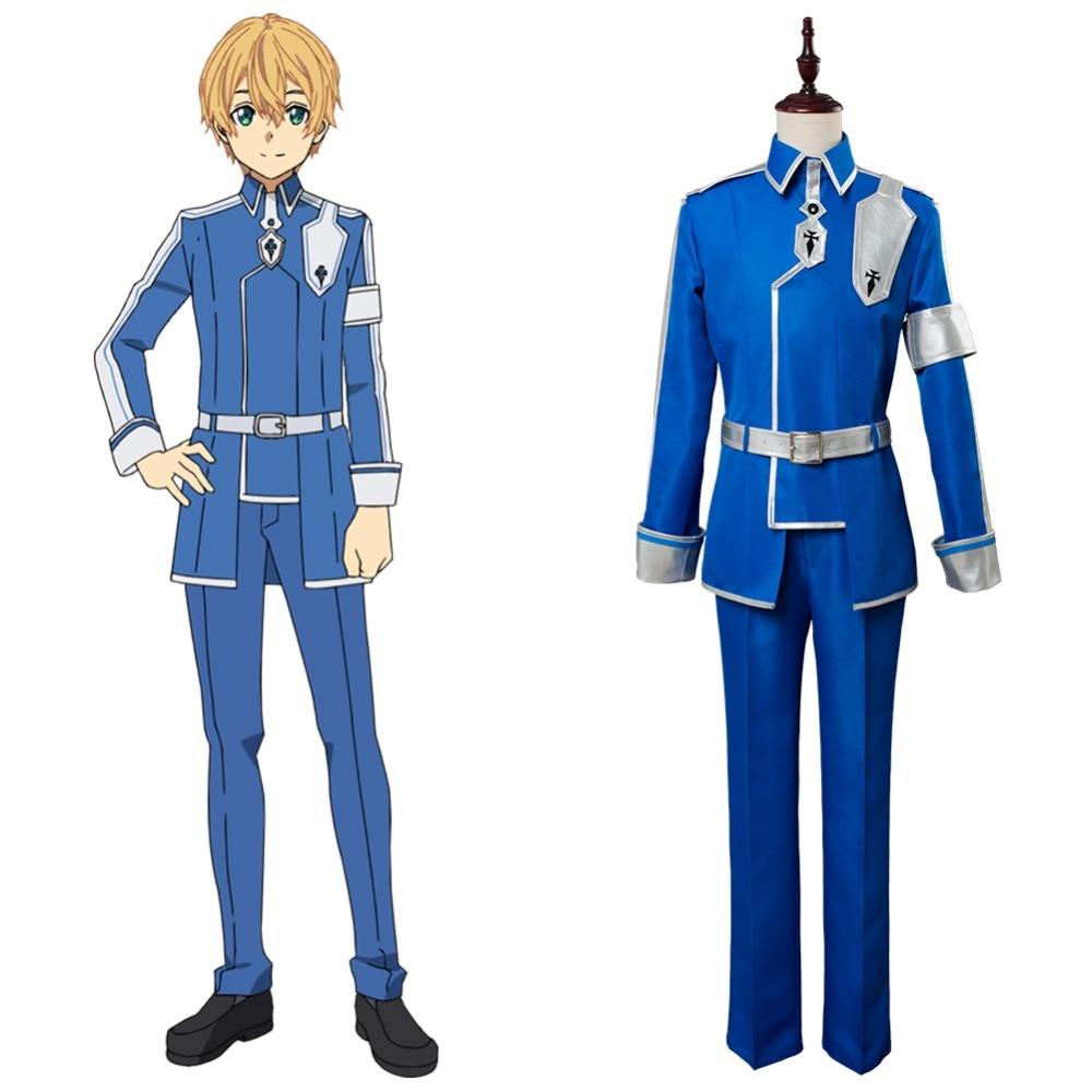 SAO Sword Art Online Alicization Season 3 Eugeo Cosplay Costume Halloween Suit