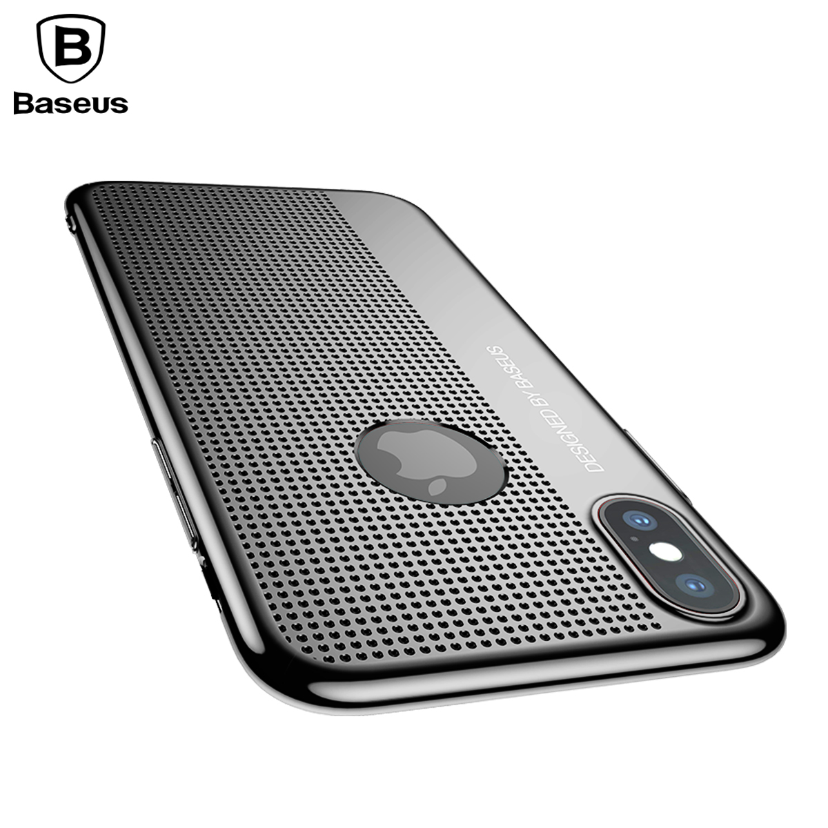 Baseus Plating Case For iPhone X IX Capinhas Luxury Ultra Thin Breath Hard PC Back Shell Cover Case For iPhone 10 Coque Fundas