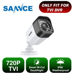 SANNCE 1pcs 720P CCTV Security Camera Indoor Outdoor Waterproof Surveillance Camera with IR Led Night Vision