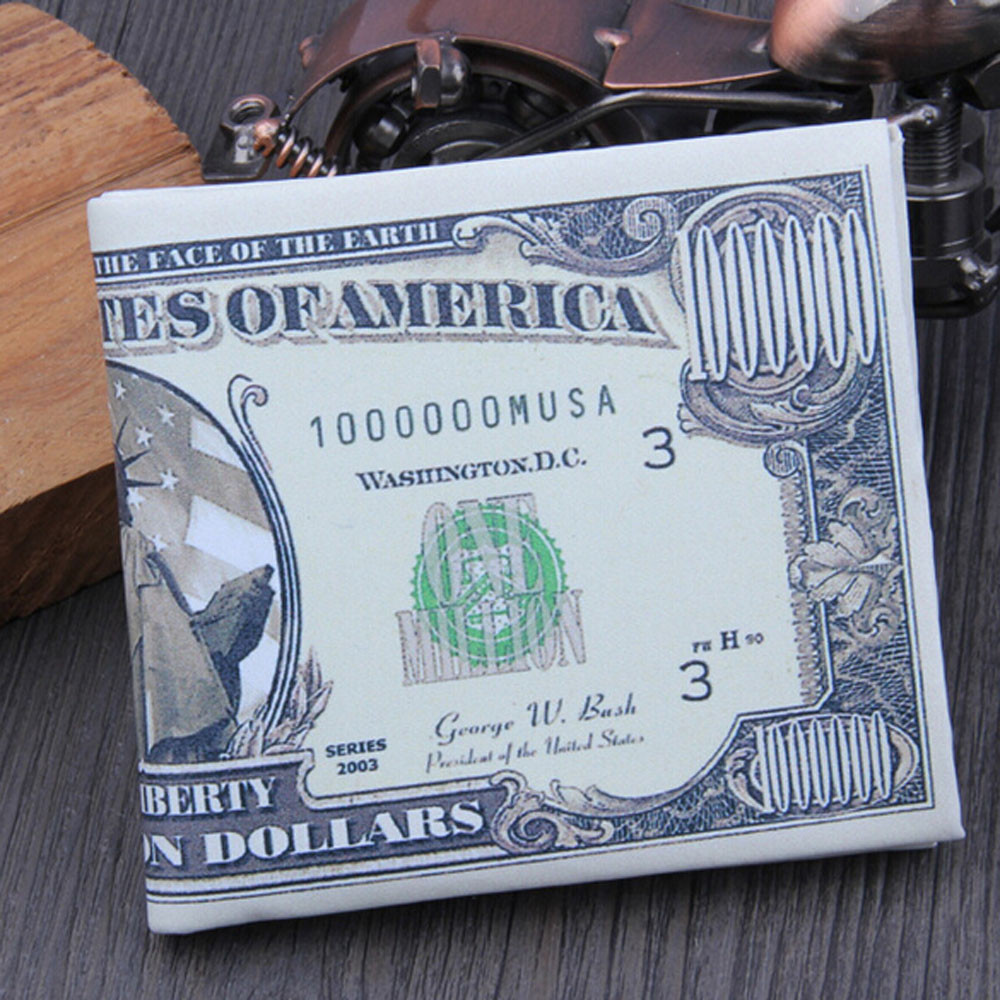 US Dollar Bill Wallet PU Leather Wallet Bifold Credit Card Photo holders Hot Sale Fashion Men Wallets New Design Quality mance dollar price designer wallets famous brand wallet men us dollar bill wallet brown pu leather wallet bifold credit card