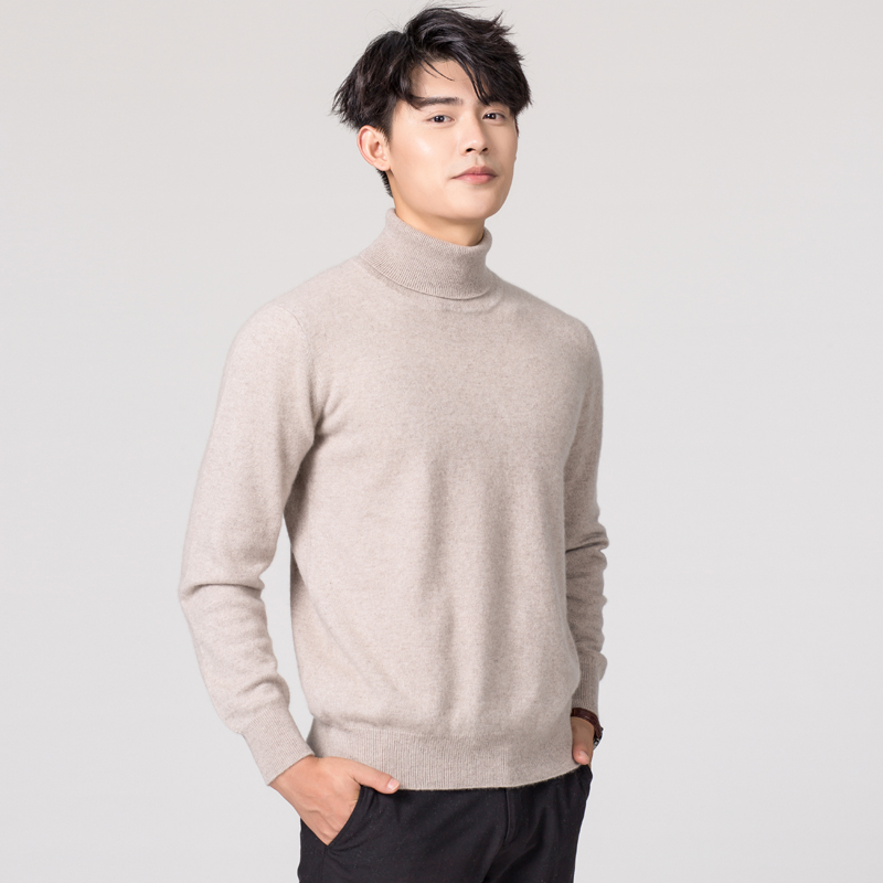 Image 5 - Man Sweaters Cashmere and Wool Knitted Jumpers 11Colors Hot Sale Winter Fashion Turtleneck Pullover Men Woolen Clothes Male TopsPullovers   -