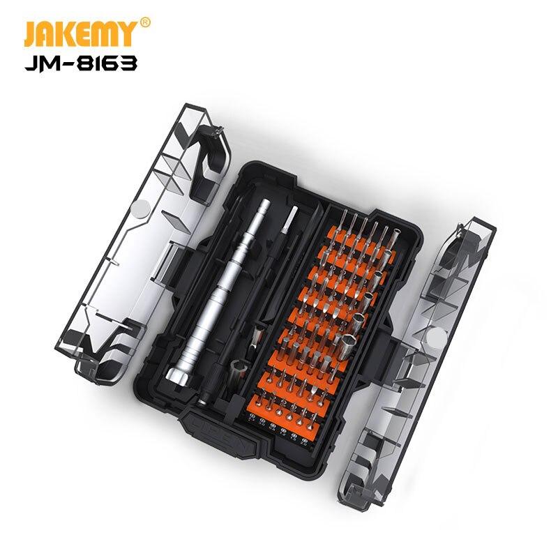 JAKEMY JM-2019 Nuovo Prodotto JM-8163 62 IN 1 di Precisione S-2 Set di Cacciaviti con Unico Pulsante di Apertura per la Casa Elettronica FAI DA TE di riparazione