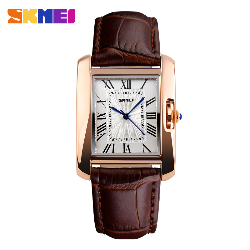 2016 Skmei Brand Elegant Retro Watches Women Fashion Luxury Quartz Watch Clock Female Casual Leather Women's Wristwatches timesshine women s wristwatches elegant retro watches women quartz watch casual genuine leather strap clock for ladies fw02