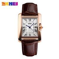 2016 Skmei Brand Elegant Retro Watches Women Fashion Luxury Quartz Watch Clock Female Casual Leather Women