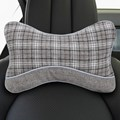 2pcs Linen Auto Seat Cover Car Headrest Lumbar Pillow Cushion Neck Head Rest Protector Car Interior Cushion 2 Colors
