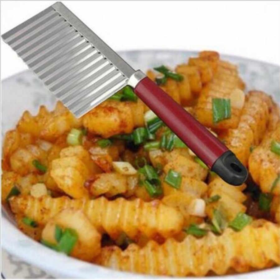 ห้องครัวอุปกรณ์เสริม 1Pc โลหะผสมสังกะสี Nutcracker เครื่องตัดแตงโมสแตนเลสสตีลคลื่น Crinkle เครื่องตัดกระเทียม Peeler