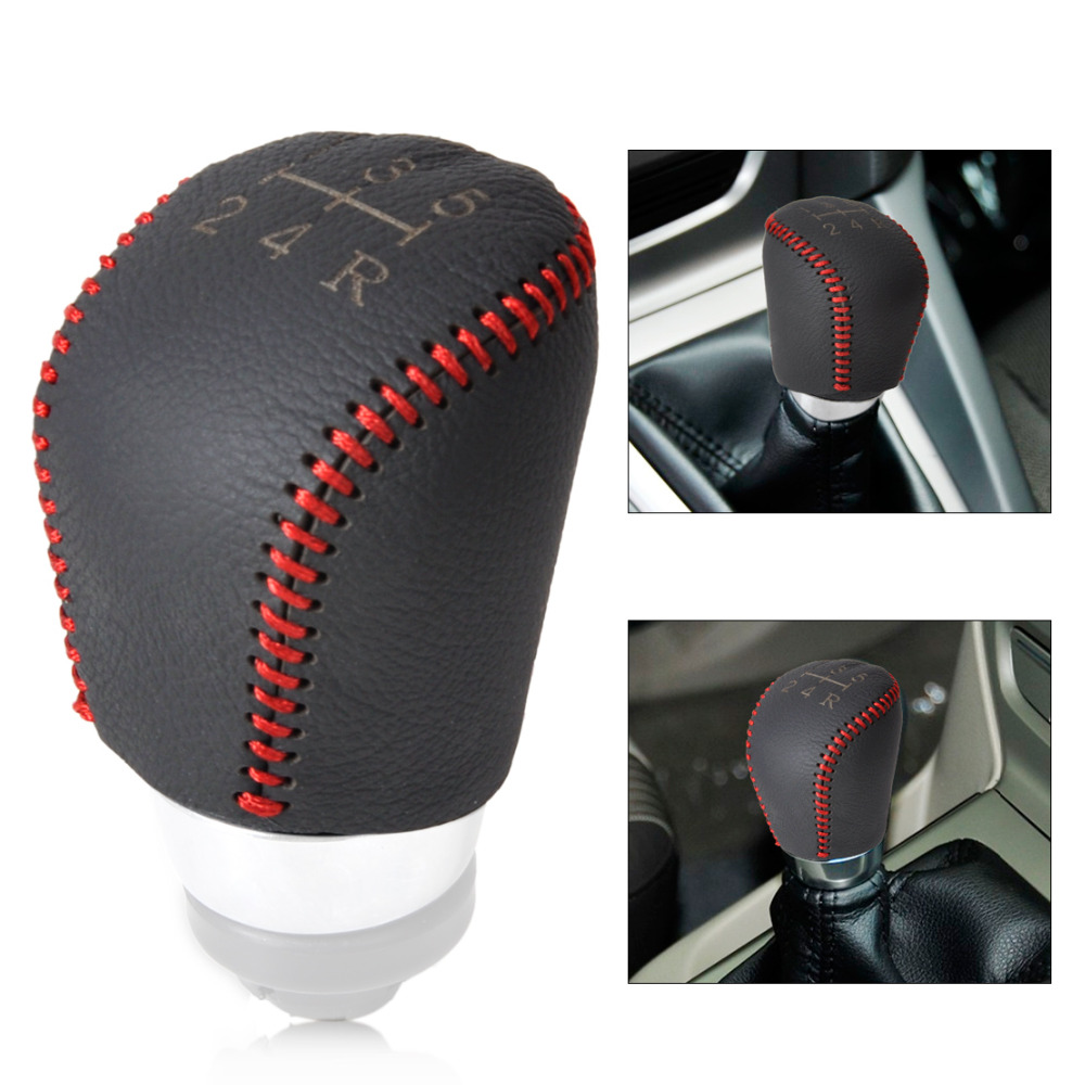 Leather 5-Speed Gear Shift Knob Cover