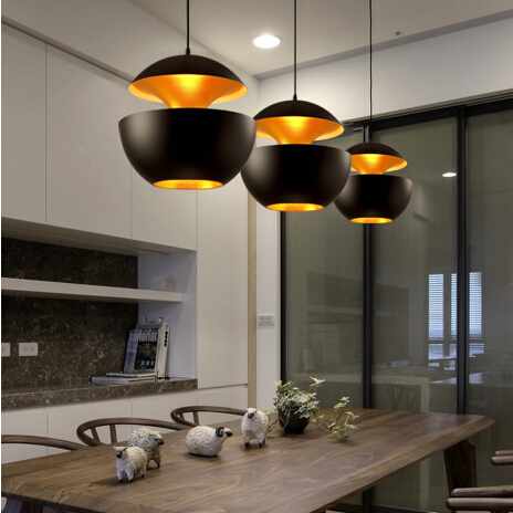 Retro Pendant Lamp Black White Industrial Bar Cafe Dining Room Lighting Decoration Hanging Lights Diameter