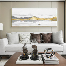 Abstract art gold mountains painting on canvas acrylic landscape Wall Art Pictures for living room wall decor quadros