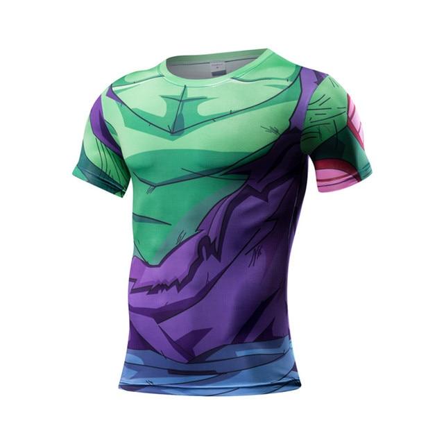 fitness Ball Z Men 3D Dragon Ball Z T Shirt Vegeta Goku Summer Style Jersey 3D Tops Fashion Clothing Tees armour under