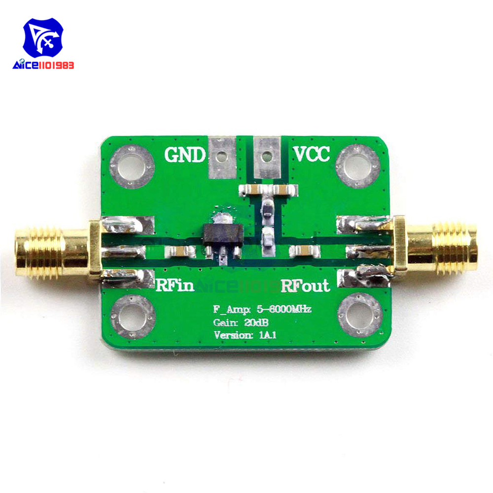 LNA 5 -6000MHz Amplifier Module Gain 20dB RF Wide Band Low Noise Amplifier Board 5M -6GHz image