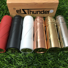 Elthunder mod 21700 20700 18650 battery brass Vaporizer Mod 27mm diamater vape vs get low v3Mechanical Mod vape box pen e cigare wismec reuleaux rx2 21700 230w tc mod 8000mah with dual 21700 batteries battery balance charge system upgradeable firmware vape