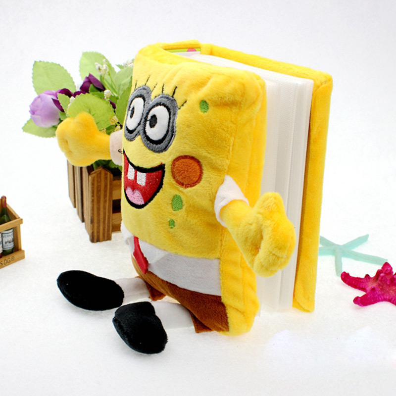 6 Inch 17*12*5CM Cute Baby Inserts Children Album Animal Cartoon Plush Gallery Albums Multi Style Optional <font><b>Spider</b></font> <font><b>Man</b></font> Spongebob