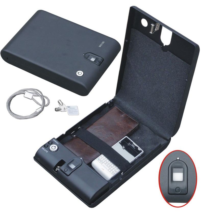 En gros MO100 biométrique d'empreintes digitales coffre-fort clé pistolet coffre-fort bijoux boîte câble Portable chaud nouveau créatif meilleur cadeau