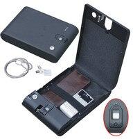 Wholesale MO100 Biometric Fingerprint Safe Box Key Gun Vault Jewelry Box Cable Portable Hot New Creative