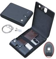 Wholesale MO100 Biometric Fingerprint Safe Box Key Gun Vault Jewelry Box Cable Portable Hot New Creative best gift