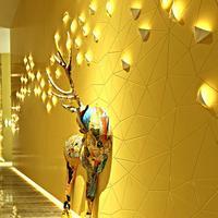 Plain Luxury Gold Wallpaper Modern Designs Gold Foil Textured Geometric Wallpaper Wall Paper Rolls