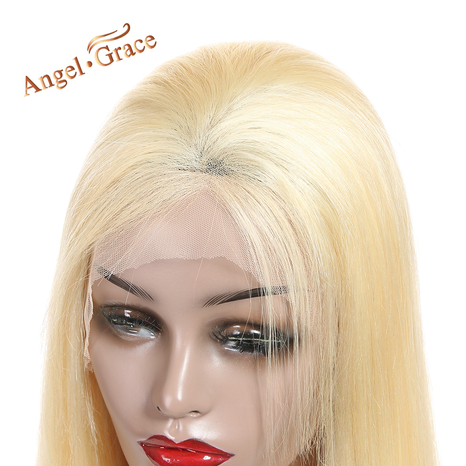 Hair Extensions & Wigs Angel Grace Hair #613 Blonde Wigs Silky Straight Hair Bundles Brazilian Remy Human Hair Lace Front Wigs Fast Delivery 2-4 Days