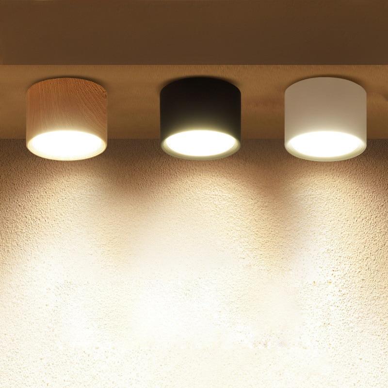 DBF 5 W/12 W LED plafonnier monté en Surface 85-265V plafonds lumière pour salon chambre décoration de la maison éclairage Spot intérieur