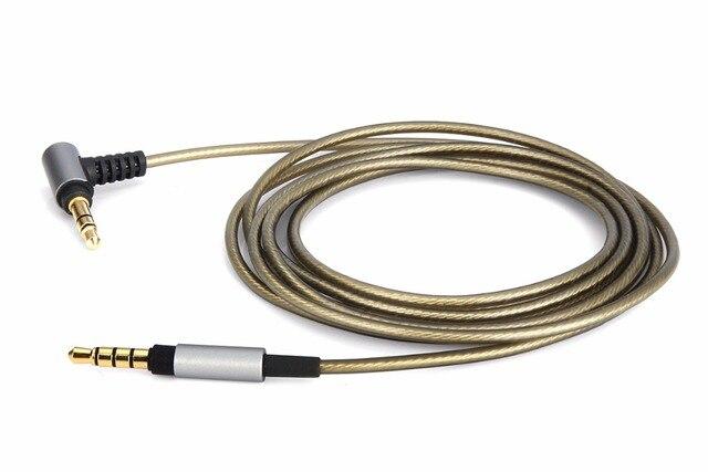 4ft/6ft כסף מצופה אודיו כבל עבור SONY MDR XB950N1 MDR 1000X MDR 100AAP 100ABN XB950BT MDR 1A MDR 1ADAC 1ABP 1ABT אוזניות