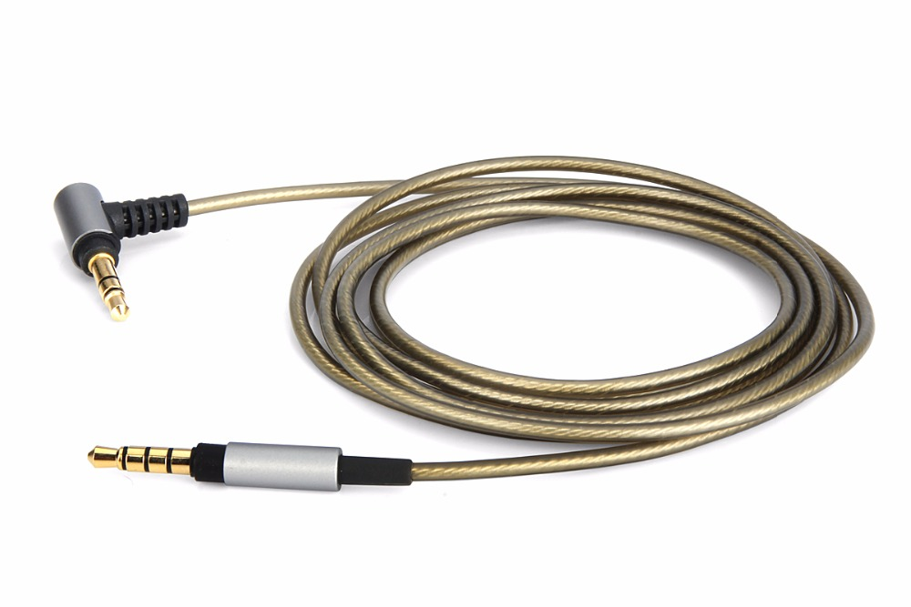 4ft/6ft upgrade Silver Audio Cable For <font><b>SONY</b></font> <font><b>MDR</b></font>-XB950N1 <font><b>MDR</b></font>-<font><b>1000X</b></font> <font><b>MDR</b></font>-100AAP 100ABN XB950BT <font><b>MDR</b></font>-1A <font><b>MDR</b></font>-1ADAC 1ABP 1ABT <font><b>headphone</b></font> image