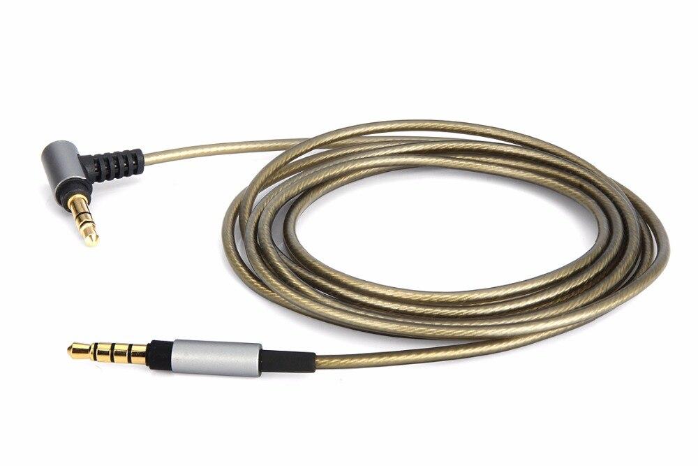 С серебряным покрытием аудио кабель для SONY MDR-XB950N1 BT MDR-1000X MDR-100AAP 100ABN XB950BT MDR-1A MDR-1ADAC 1ABP 1ABT 1AM2 наушников