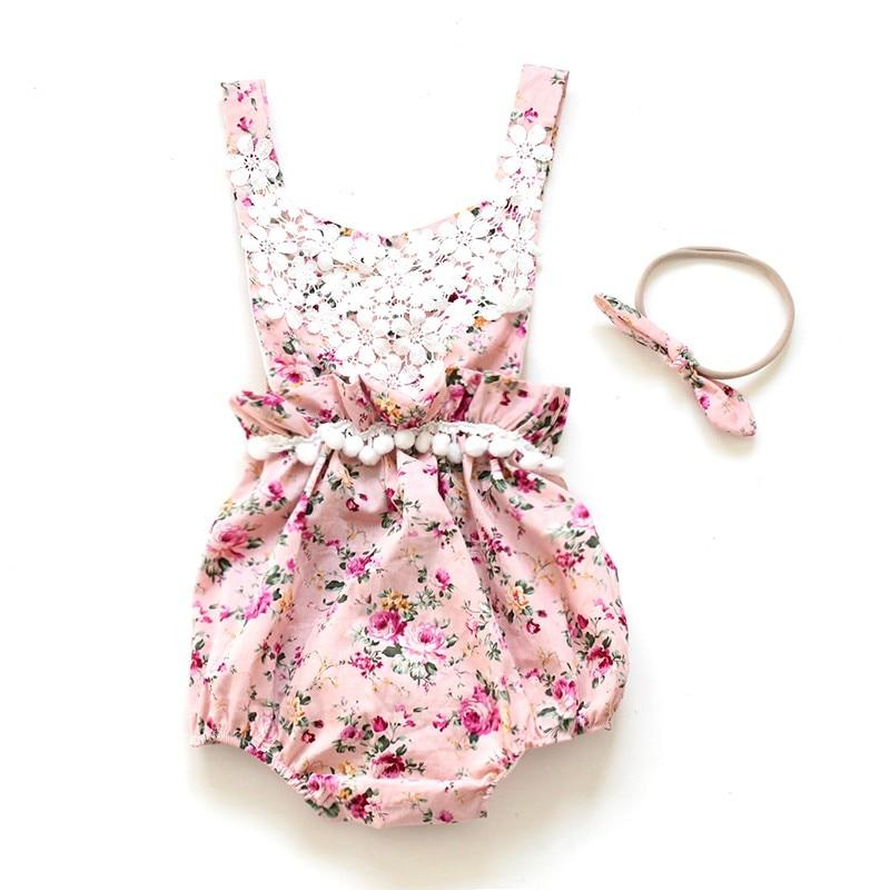 Venta directa nuevo cinturón lindo bebé mamelucos verano con - Ropa de bebé