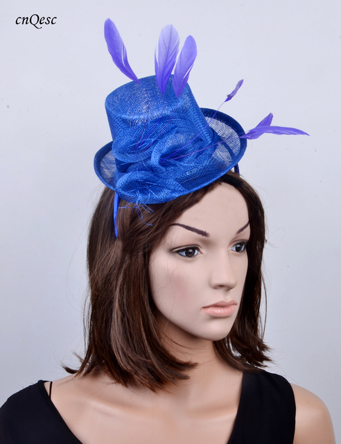 Wholesale NEW 6 colour Royal blue Sinamay Fascinator Mini Hat for Kentucky  Derby c770ff59fa35