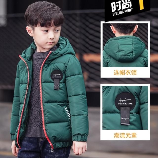 27f0f5586 New Boys Parka Childen Winter Jackets Warm Boys Clothes Kids Baby ...