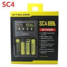 NITECORE SC4 インテリジェント高速充電極上充電器 4 スロット 6A 合計出力互換 IMR 18650 14450 16340 AA AAA