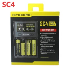 NITECORE SC4 chargeur rapide Intelligent avec 4 emplacements 6A sortie totale Compatible IMR 18650 14450 16340 AA AAA
