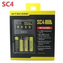 NITECORE SC4 inteligentne szybsze ładowanie doskonała ładowarka z 4 gniazdami 6A całkowita moc wyjściowa kompatybilny IMR 18650 14450 16340 AA AAA