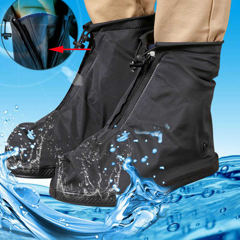 Women and Men Reusable Waterproof Shoe Covers Waterproof Rain Shoe Cover Anti-slip Overshoes Shoes Protector Waterproof HOT