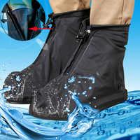 Women and Men Reusable Waterproof Shoe Covers Waterproof Rain Shoe Cover Anti-slip Overshoes Shoes Protector Waterproof HOT